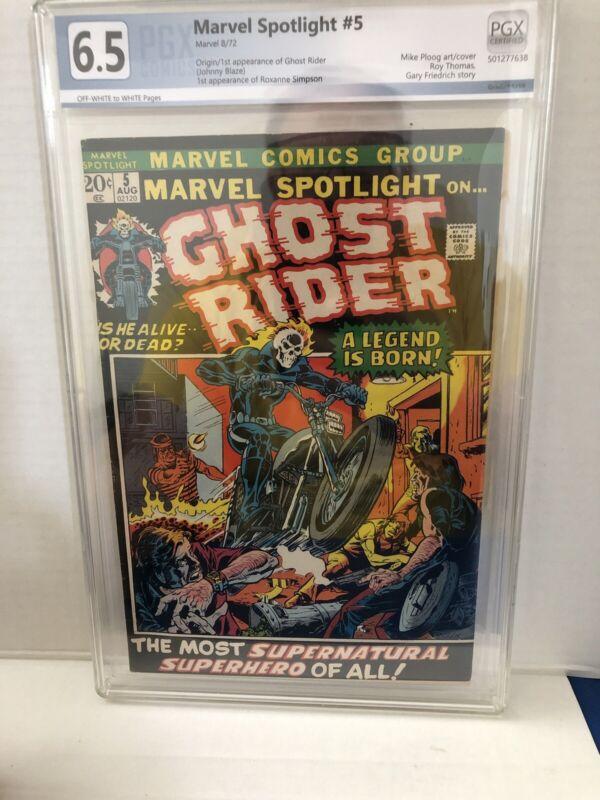 Marvel Spotlight #5 PGX 6.5. 1st Appearance of Ghost Rider (NOT CGC)