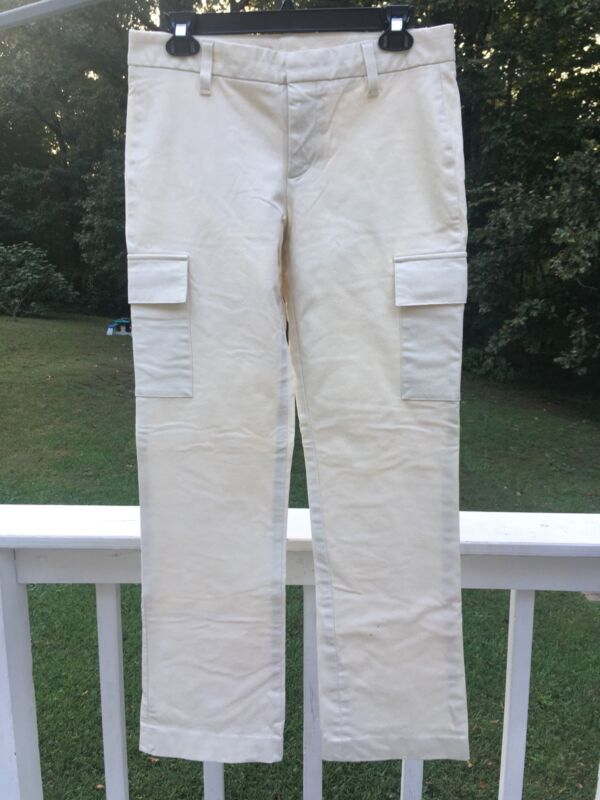 GAP Off White Jeans Womens 6 Stretch Cargo Pockets