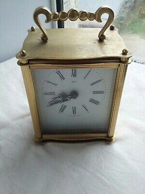 Smiths Brass Carriage Clock