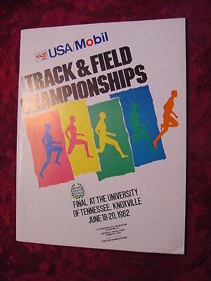 USA MOBIL Track & Field Championships Knoxville TN June 18 19 20 1982 PROGRAM