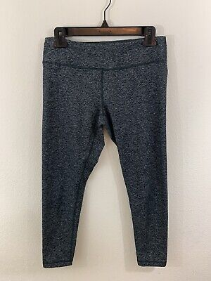 Zella Mid Rise Heathered Gray Cropped Leggings Size Medium
