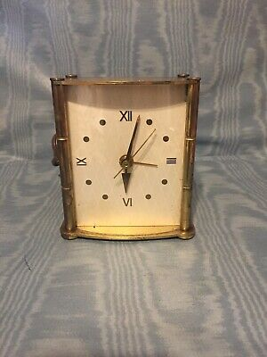 Vintage Rare Brass Ingraham Mantle/Desk Alarm Clock USA