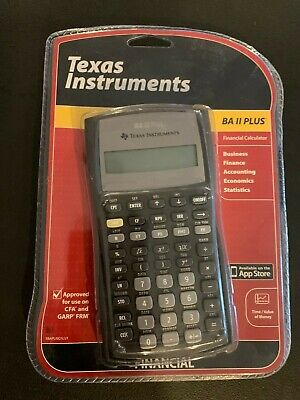 New, sealed in packaging! Texas Instruments BA II Plus Financial Calculator
