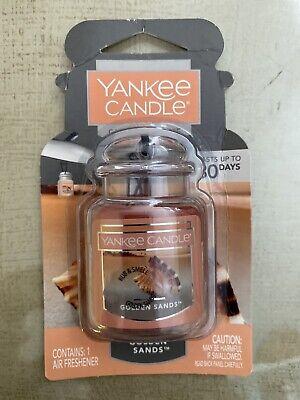 Yankee Candle Car Jar Ultimate Golden Sands Hanging Air Freshener NEW