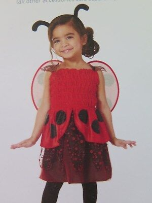 TARGET Toddler Girls 3-Piece Ladybug Halloween Costume Size 18-24 Months NWT (Target Toddler Halloween Costumes)