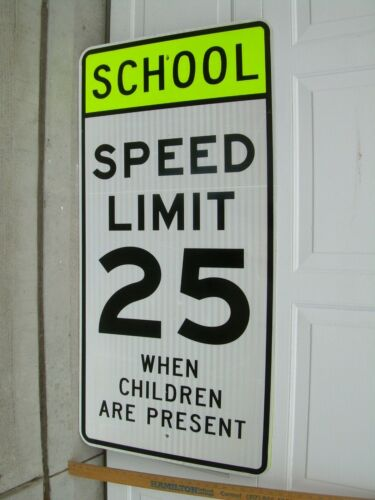 "Retired School Zone Speed Limit Sign, Reflective  48"" x 24"""