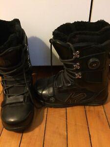 K2 snowboard boots 10.5 +boot/helmet bag