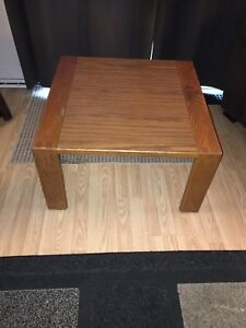 Large solid wood end table