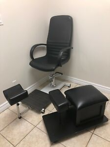 Hydraulic pedicure chair and pedicure stool!