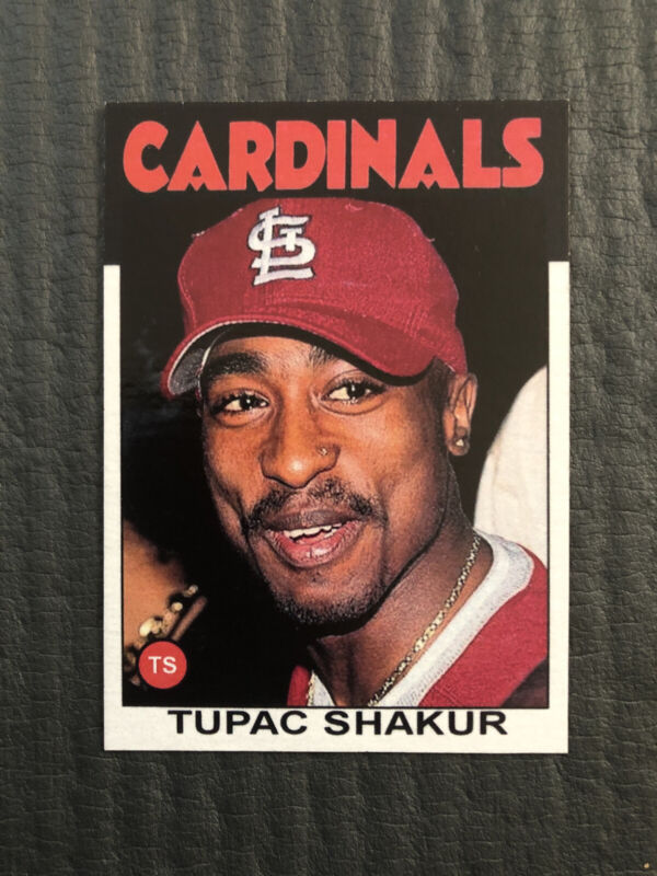 Tupac Shakur 2Pac St Louis Cardinals Trading Card 1986 Topps Limited Edition