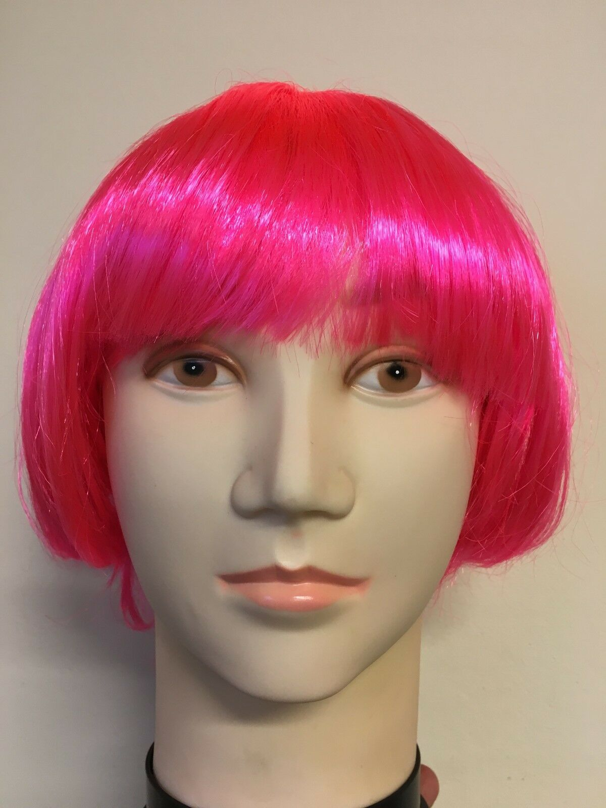Details about WOMENS LADIES PINK BLOND SHORT BOB WIG FANCY DRESS BOBBED WIGS  HEN PARTY COSTUME b9362a601d