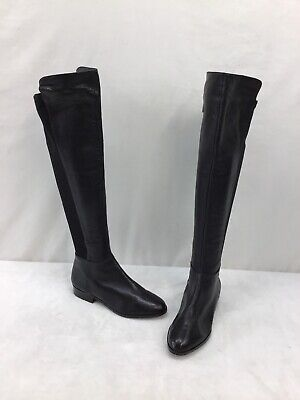 Michael Kors Black Leather Zip Up Over The Knee Boots Size 5.5M  L2574 OOS/