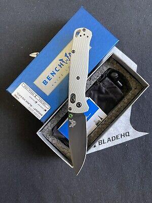 Benchmade Bhq Exclusive Bugout CPM20CV Plain Edge EDC Black Knife MSRP $250
