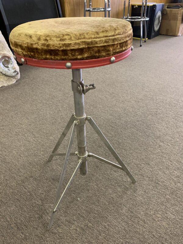 Vintage 1960's Drum Throne Seat Stool Chair
