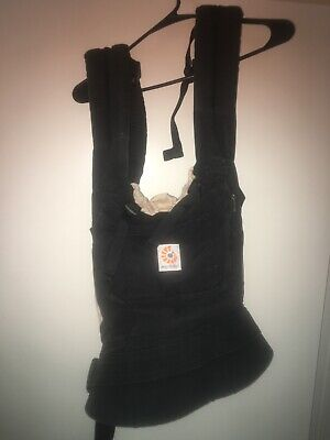 ErgoBaby Organic Cotton Baby Infant Carrier Backpack Black Ergo Baby