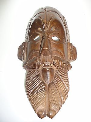 Guatemalan Hand Carving Wood Mask Folk Art Conquest Dancing Mask from Guatemala