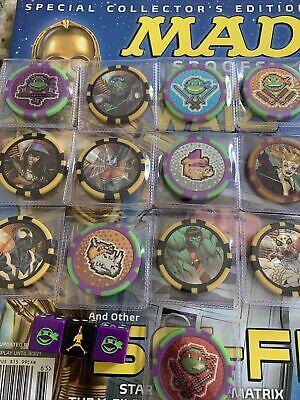 Marvel Disney TMNT DC's Harley Quinn 13 coin Token Lot Spider-Man Die Included