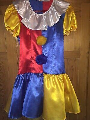 CLOWN KOSTÜM KINDER Karneval Fasching Kleid Tutu Mädchen Gr. 34 ()