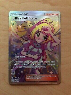 Pokemon Lillie's Full Force Full Art Trainer Cosmic Eclipse 230/236 Tag Team New