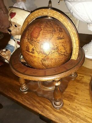 OLDE WORLD TABLE GLOBE WOOD MADE IN ITALY 10