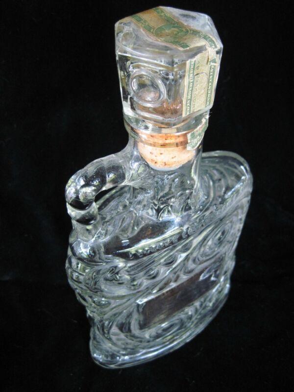 Antique Glass Old Forester Bottle