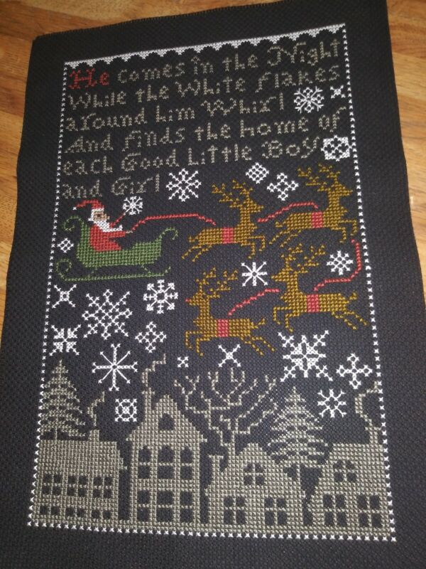 Completed Cross Stitch - Prairie Schooler Santa