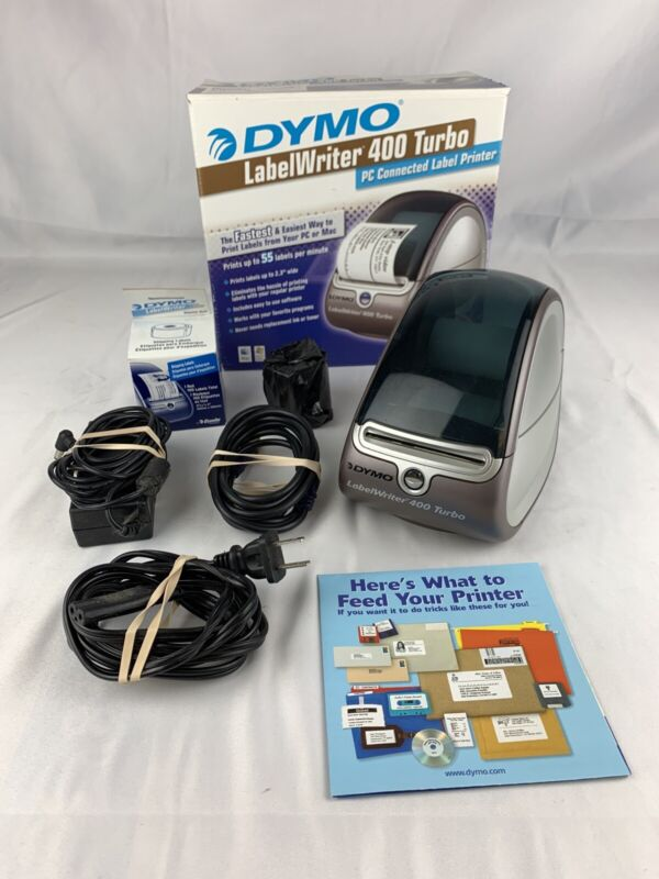 Dymo LabelWriter 400 Turbo Label Printer w/ USB Cable, Labels 93176