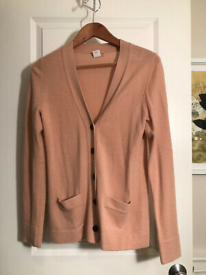 JCrew Button Down Cashmere Cardigan Sweater Acne Studios Pink -- Size M
