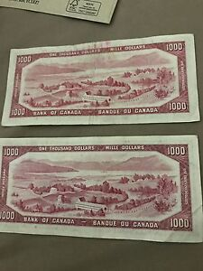 Selling 4 x 1954 1000$ in mint condition Gatineau Ottawa / Gatineau Area image 1