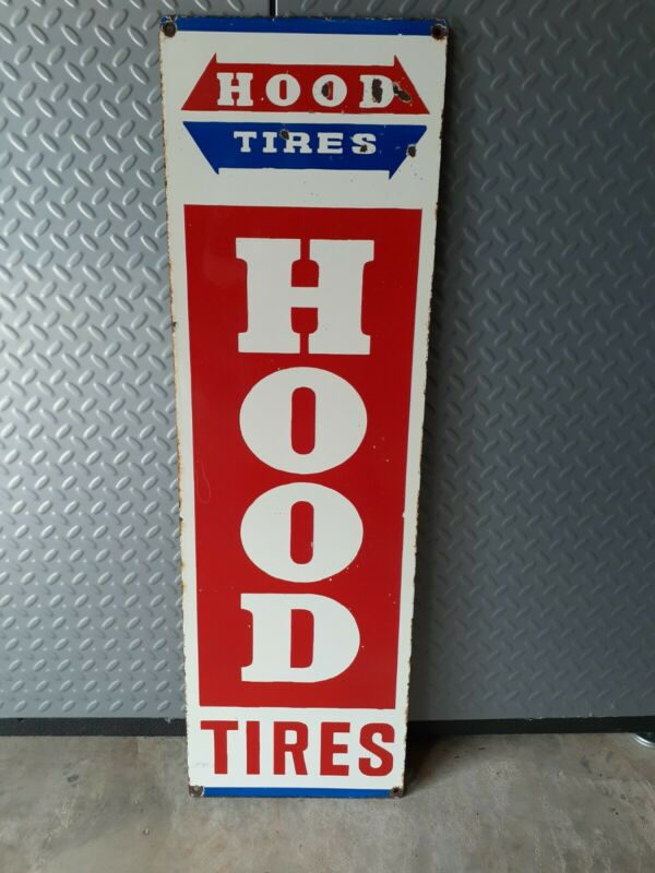 Hood Tire Porcelain Sign (Very Large and Heavy)