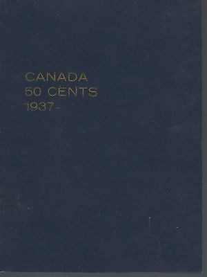 Canada 50 Cents 1937-1962 Meghrig Gem Album with 6 unmarked slots  NOS