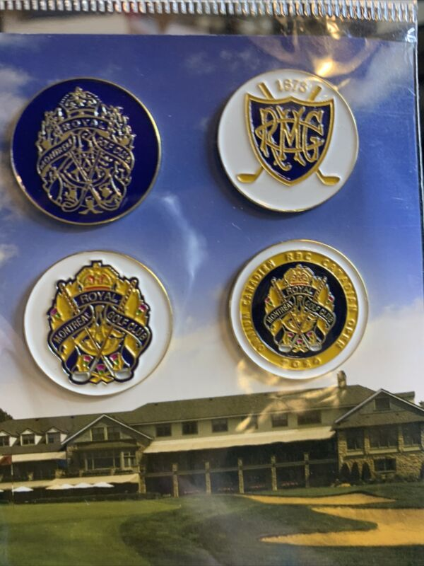 Royal Montreal Golf Club Ball Markers New In Package 4 Markers