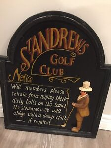 Wall Art St Andrew's golf Club Notice