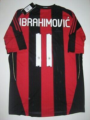 New 2010-2011 Adidas AC Milan Zlatan Ibrahimovic Kit Calcio Maglia Shirt Jersey