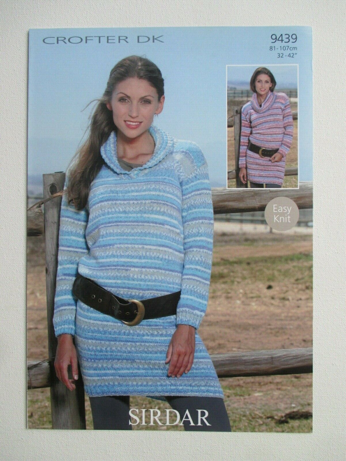 """2559 LADY/'S CABLE /& BOBBLE SWEATER DK KNITTING PATTERN VINTAGE 32-40/"""""""