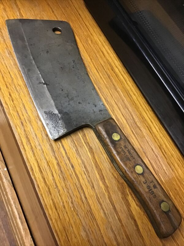 """Heavy Duty Vintage Detroit Cutlery  15.5"""" overall 9"""" Blade Meat Cleaver TW3-8198"""