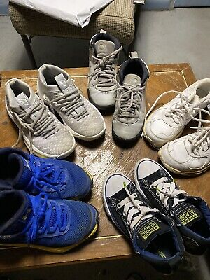 Kids Shoes Lot 5x Size /(2 )4y / 3y / 1 / 5/ Used Fair Condition