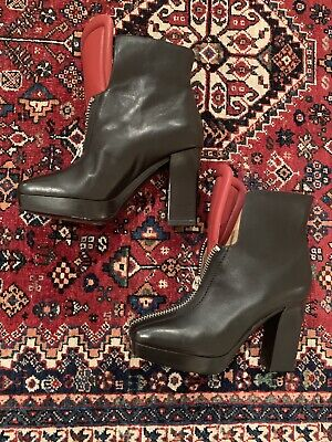 ACNE STUDIOS Black Leather Boots Size IT38