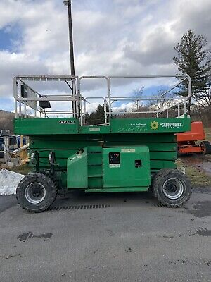 2017 Jlg 4394rt 43 4x4 Dual Fuel Rough Terrain Scissor Man Lift