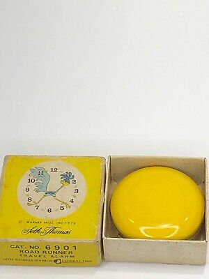 Seth Thomas ROAD RUNNER Alarm Clock 1970 Warner Bros Vtg Box RARE CAT NO 6901