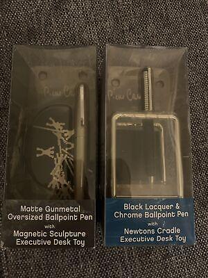 Pierre Cardin Ballpoint Pen Lot Of 2 Chrome And Matte Gunmetal Desk Toys