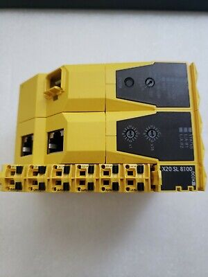 Br Automation X20sl8100 Powerlink Safe Output Module With Base