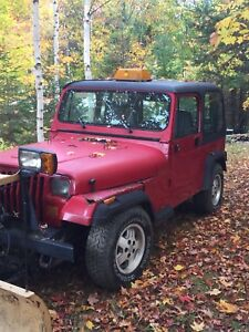 1994 Jeep YJ 4cylinder 4wd with Fischer power angle plow
