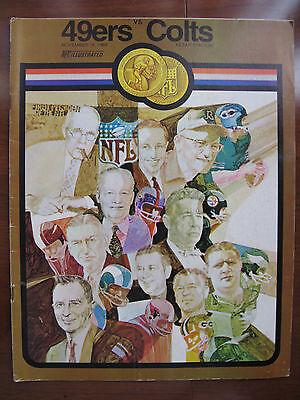 1969 SAN FRANCISCO 49ERS VS. BALTIMORE COLTS GAME PROGRAM