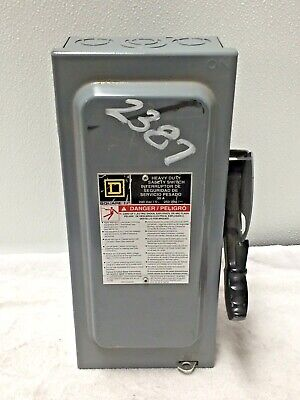 Square D H221n Safety Switch 30a 2 Pole