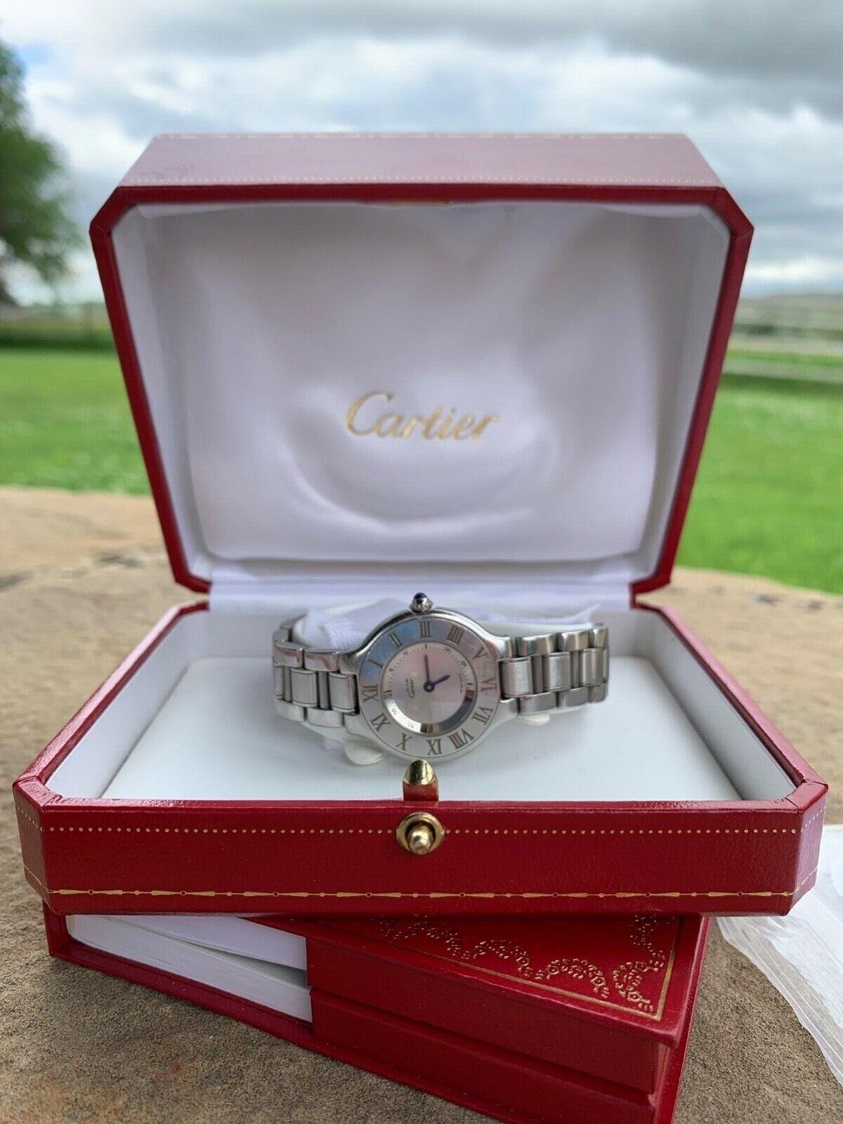 Must de Cartier 1340 stainless steel 21 Women's wristwatch