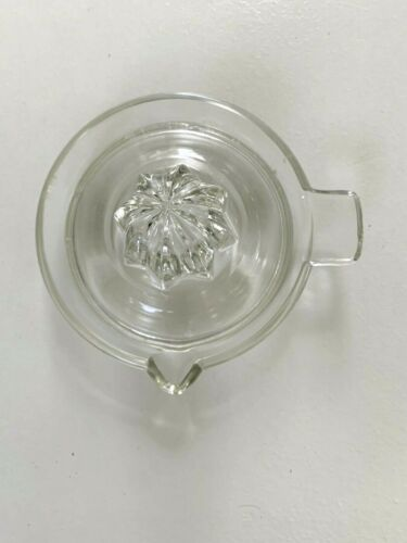 Miniature Small Cute Vintage Clear Glass Juicer Kitchen Reamer