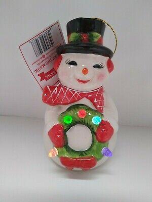 Mr. Christmas Follow the Magic Snowman Light Up Figure Ornament Exc w/Tag