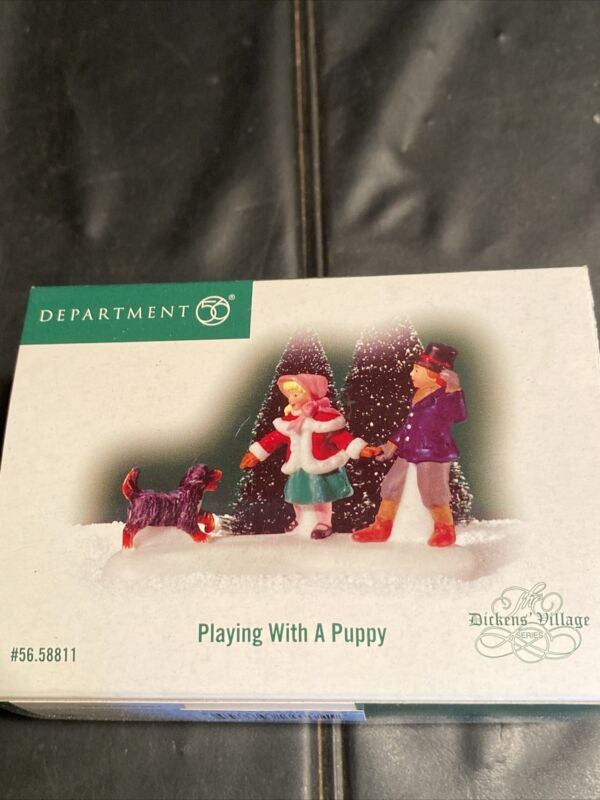 dept 56 dickens village accessories Playing with a Puppy 58811