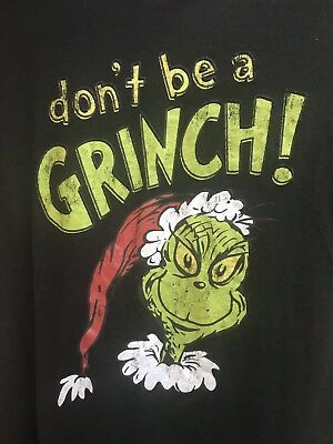 "Dr. Seuss The Grinch ""Don't Be A Grinch!"" Adult Medium Christmas T-shirt (Grinch Clothes)"